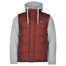Lee Cooper Mix Fabric férfi bélelt kabát szürke XL