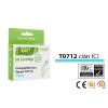 Epson® nyomtatóhoz, i-AICON™ T0712 (T0892) cián utángyártott tintapatron (to712)V6.0