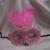 tollas-csipkés álarc rózsaszín