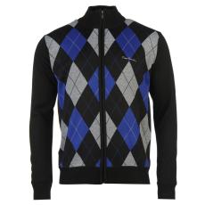 Pierre Cardin Férfi cipzáras kötött pulóver fekete M