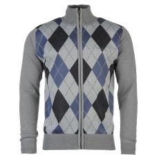 Pierre Cardin Férfi cipzáras kötött pulóver kék XL