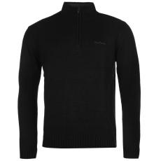 Pierre Cardin Férfi cipzáras nyakú pulóver fekete XXS