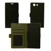 BOOKTYPE-HUA-P8-BK, Huawei P8 Flip oldalra nyiló tok+tartó,Fekete