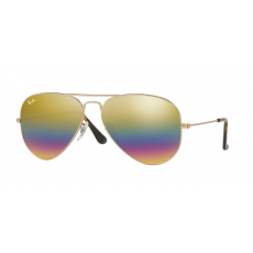 Ray-Ban RB3025 9020C4 AVIATOR METALLIC LIGHT BRONZE LIGHT GREY MIRROR RAINBOW 3 napszemüveg