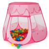 Gyereksátor, játéksátor + 100 labda + táska rózsaszín