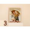 Karácsonyi gyerekes hűtőmágnes, többféle mintával