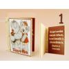 Szerelmes mackós könyv hűtőmágnes, többféle mintával