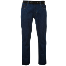 Pierre Cardin Férfi farmernadrág övvel kék 30W L