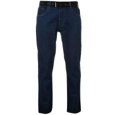 Pierre Cardin Férfi farmernadrág övvel kék 34W L