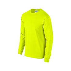 GILDAN hosszú ujjú környakas póló, biztonsági zöld