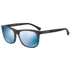 Emporio Armani EA4056 554955 MATTE STRIPED BLUE DARK BLUE MIRROR BLUE napszemüveg