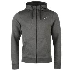 Nike Fundamentals férfi kapucnis cipzáras pamut pulóver sötétszürke M