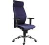 Főnöki szék,magas háttámlával,szövetborítás, alumínium lábkereszt,  1824 Lei , kék forgószék