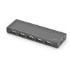 Ednet Hub 10-port USB 2.0 HighSpeed, Power Supply, black