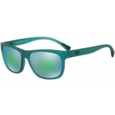 Emporio Armani EA4081 553431 MATTE TRANSPARENT PETROLEUM LIGHT BLUE MIRROR GREEN napszemüveg