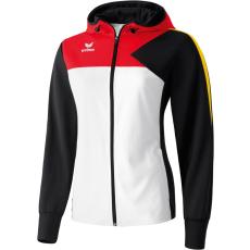 Erima Premium One Training Jacket with Hood fehér/fekete/piros zippes felső