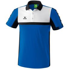 Erima 5-CUBES Polo-Shirt kék/fekete/fehér galléros poló
