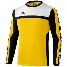 Erima 5-CUBES Training Sweater sárga/fekete/fehér pulóver