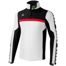 Erima 5-CUBES Training Top fehér/fekete/piros zippes felső