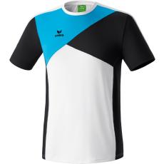 Erima Premium One T-shirt fehér/fekete/világos kék poló
