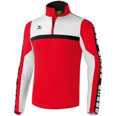 Erima 5-CUBES Training Top piros/fehér/fekete zippes felső