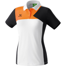 Erima Premium One Polo-shirt fehér/fekete/neon narancs galléros poló