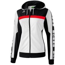 Erima 5-CUBES Training Jacket with Hood fehér/fekete/piros zippes felső