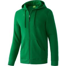 Erima Hooded Jacket sötét zöld zippes felső