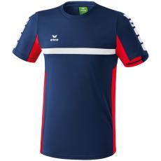Erima 5-CUBES T-Shirt sötétkék/piros poló