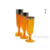 Pezsgős pohár, 6 db-os, többféle színben