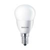 Philips LED izzó, E14, kis gömb, 4W, 250lm, 230V, 2700K, P45,