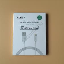Aukey iPhone (iPad, iPod) töltőkábel MFi chipes audió/videó kellék, kábel és adapter