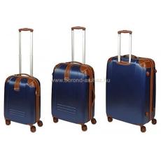 DIELLE kék négykerekű bőröndszett-3db 155-Szett