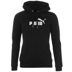 Puma No1 női kapucnis pamut pulóver fekete S