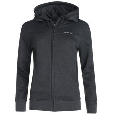 LA Gear Női kapucnis cipzáras pulóver sötétszürke XXL