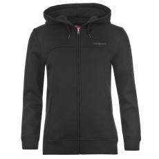LA Gear Női kapucnis cipzáras pulóver fekete 3XL