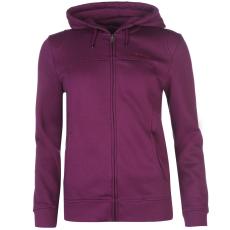 LA Gear Női kapucnis cipzáras pulóver lila XL