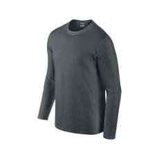GILDAN hosszú ujjú Softstyle póló, faszénszürke