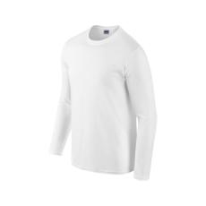GILDAN hosszú ujjú Softstyle póló, fehér
