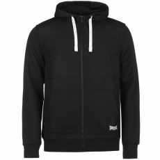 Lonsdale Heavy Quilted férfi kapucnis pulóver fekete XXL