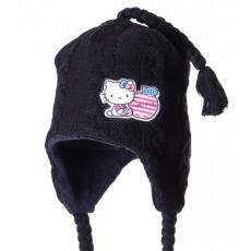 téli sapka HELLO KITTY - fekete - méret 52