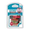 DYMO Feliratozógép szalag, 12 mm x 3 m, tartós, DYMO  D1 , piros-fehér