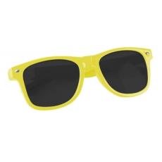 Műanyag napszemüveg UV400 védelemmel, Sárga