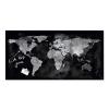 SIGEL Mágneses üvegtábla, Világtérképpel, 46x91 cm, SIGEL  Artverum®  , fekete