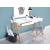 Beliani Fehér asztal - Íróasztal - Fiókos asztal - Dolgozóasztal - 120x170 cm - SHESLAY