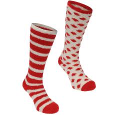 Miso Knee High Cosy női zokni piros csíkos 37-42