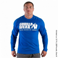 RUBBER PRINTED LONG SLEEVE (ROYAL BLUE) [M]