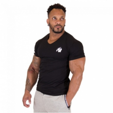 ESSENTIAL V-NECK T-SHIRT (BLACK) [XXXL]