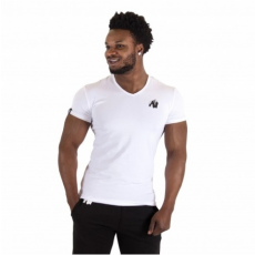 ESSENTIAL V-NECK T-SHIRT (WHITE) [XXXL]