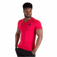 ESSENTIAL V-NECK T-SHIRT (RED) [XXL]